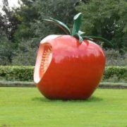 Monument to a tomato near Rotterdam, Netherlands