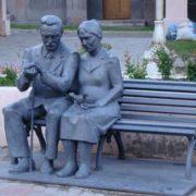 Monument to grandparents in Magnitogorsk, Russia