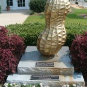 Monument to peanut in Dothan, Alabama, USA