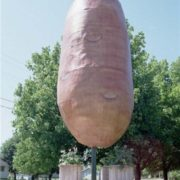 Monument to potatoes on Prince Edward Island, Canada