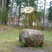 Monument to the Sun in Ust-Narva, Estonia