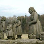 Monument to the characters of Bozhena Nemtsova's novel, Czech Republic