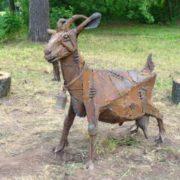 Monument to the goat in Izhevsk