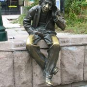 Monument to the old man Milyo in Plovdiv, Bulgaria