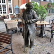 Monument to the oldest inhabitant of Bremen, Germany