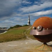 Monument to the solar system in Port Stanley, Falkland Islands, United Kingdom