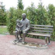 Monument to the veteran in Tambov, Russia