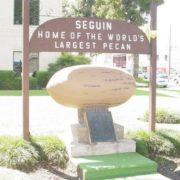 Pecan nut monument in Seguin, Texas, United States
