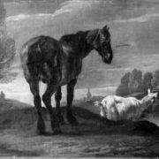 Pieter van Bloemen. Landscape with Horse and a Goat