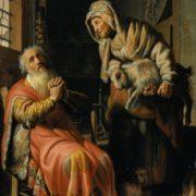 Rembrandt van Rijn. Tobit blames Anna for stealing a kid