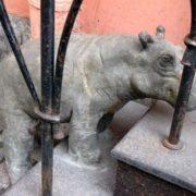 Sculpture of hippo