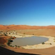 Sossusvlei is a huge clay cluster surrounded by giant dunes