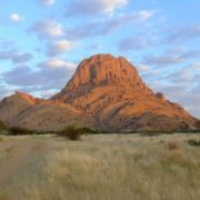 Spitzkoppe - a group of bare granite rocks in the Namib desert