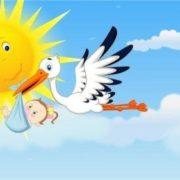 Stork is bringing baby