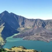 The active volcano on the island of Lombok