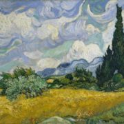 Van Gogh. Wheat field with cypresses