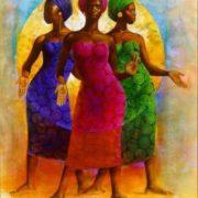 African women. Artist Keith Duncan Mallett