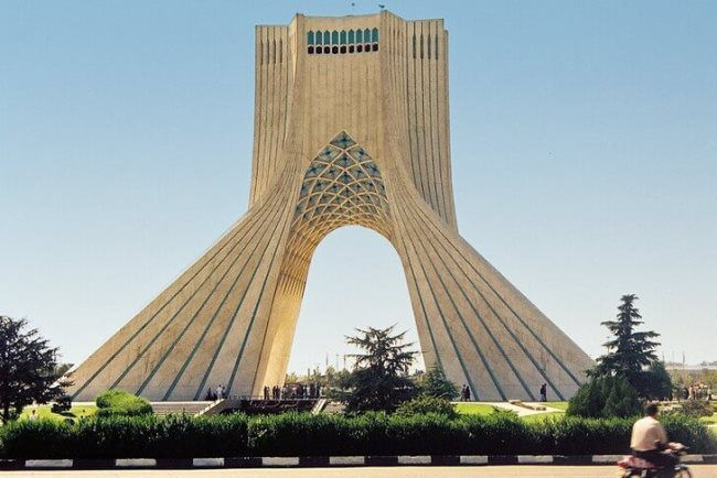 Azadi Tower in Tehran