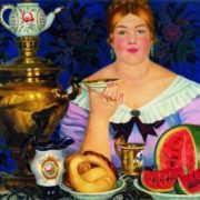Boris Kustodiev. The merchant drinking tea. 1923