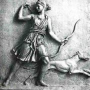 Bow was the main attribute of Artemis, goddess of hunting