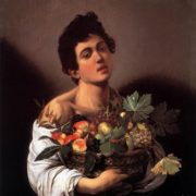 Caravaggio. A boy with a fruit basket, 1593