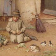 Charles Edward Wilson. Feeding the Pets