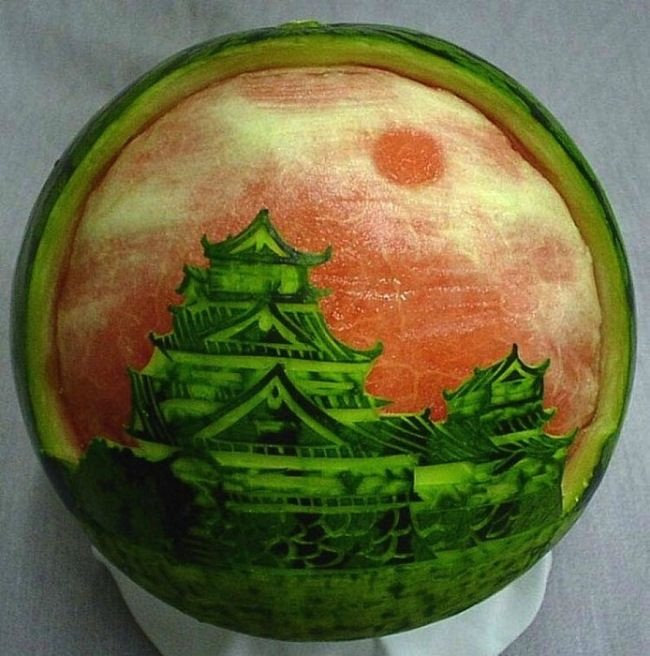Chinese watermelon pagoda