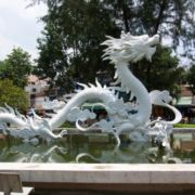 Dragon Monument in Ho Chi Minh City, Vietnam