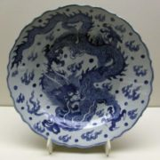 Dragon on the Ming dynasty plate,14th-17th century