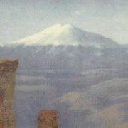 Fog in the mountains. Caucasus. Kuinji