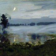 Fog over the water. Isaac Levitan