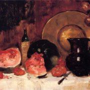 Frank Duveneck. Still Life with Watermelon, 1878