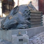 In Nuremberg there is a monument, parodying paintings by Durer
