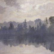 Krestovsky Island in the fog. Ivan Shishkin
