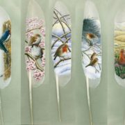 Lovely feather art by Ian Davie