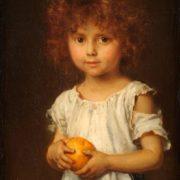Ludwig Knaus. Kleiner Rotschopf mit Apfelsine