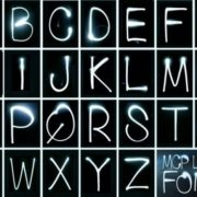 MCP Light Font - alphabet, drawn by light