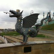 Monument to Zilant in Kazan, Tatarstan, Russia
