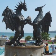 Monument to dragons in Varna, Bulgaria
