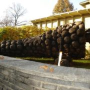Monument to the grapes in Switzerland