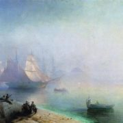 Neapolitan Bay in a misty morning. Aivazovsky