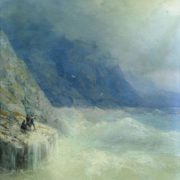 Rocks in the fog. Aivazovsky