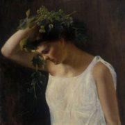 Rudolf Julius von zur Muhlen. Woman with Grapes. Art Museum of Estonia