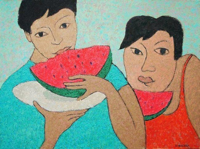 Vladimir Alekseev. Lovers of watermelons. 2010