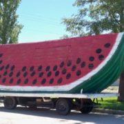 Watermelon monument in Green River, Utah, USA