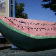 Watermelon monument in Lincoln, Illinois, USA