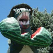 Watermelon monument in Utah, USA
