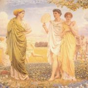 Albert Joseph Moore. The loves of the winds and the seasons, 1890-1893
