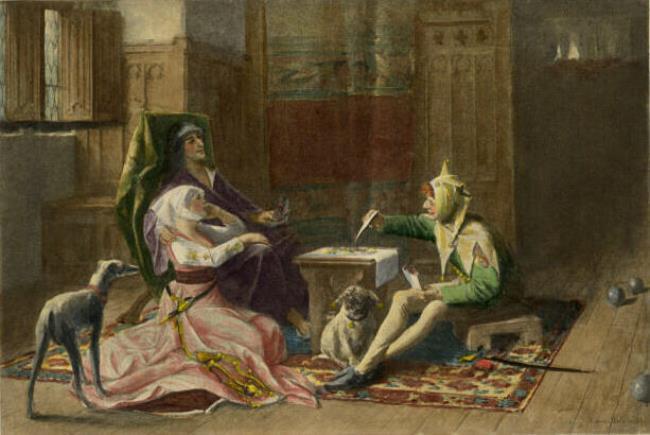 Albrecht de Vriendt. Charles VI of France and Odette, XVIII век