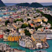 Alesund on the west coast of Norway